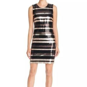 Laundry by Shelli Segal 2 Dress Sequin Striped New